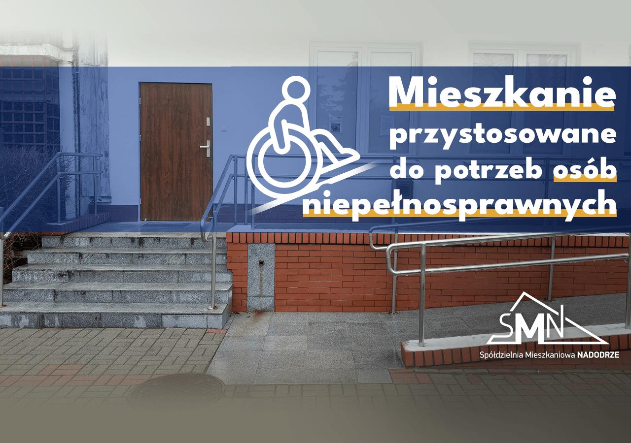 Mieszkanie w Głogowie przystosowane do potrzeb osób niepełnosprawnych