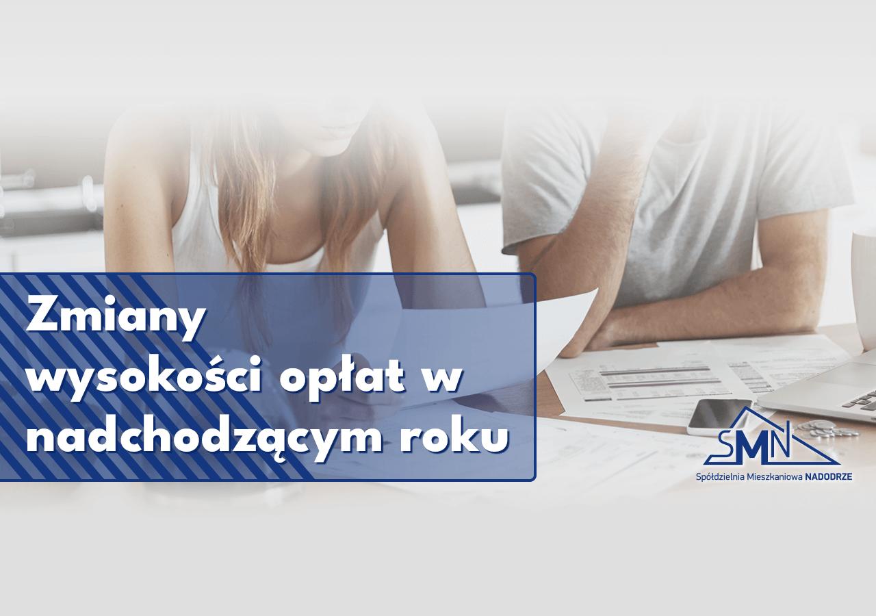 Zawiadomienia o zmianie wysokości opłat w Głogowie
