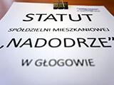 Nowe brzmienie statutu Spółdzielni Mieszkaniowej Nadodrze w Głogowie